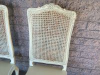 Cream Shabby Chic French Provincial Cane Back Chairs