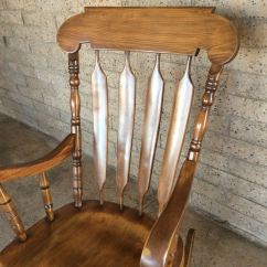 Pier 1 Imports Dining Chairs Restaurant Tables And For Sale Vintage Solid Wood Rocker Rocking Chair Yugoslavia