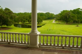 Drayton Hall grounds from the ballroom.