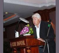 John Savage presenting at Siem Reap workshop