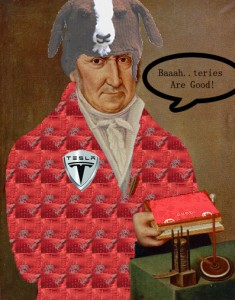 Alessandro Volta, reimagined for National Anthropology Day by Edwin Schmitt. Used by permission.
