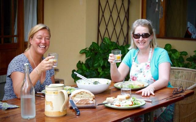 Al fresco lunch overlooking the Zambezi River.