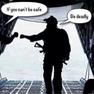 if you can't be safe be deadly meme