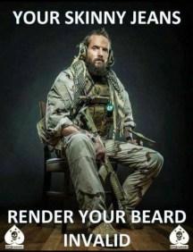 skinny pants beard