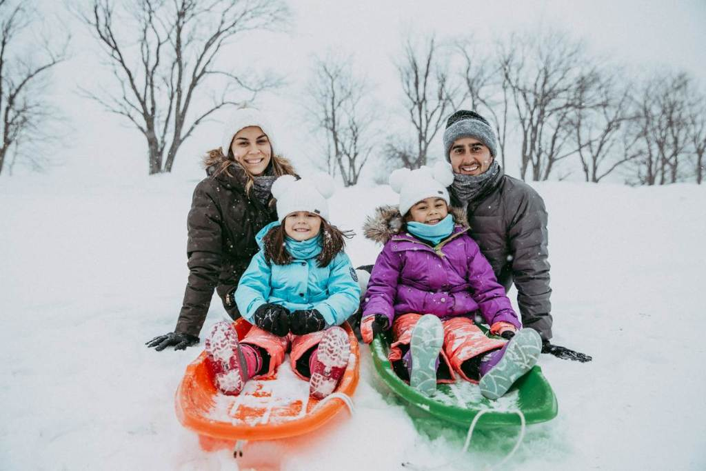 Stowe Winter Snow Family Photography