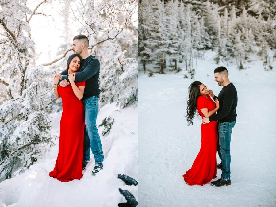 vermont winter engagement session outfit