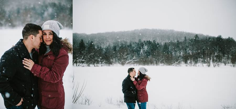 Vermont winter engagement session outfits