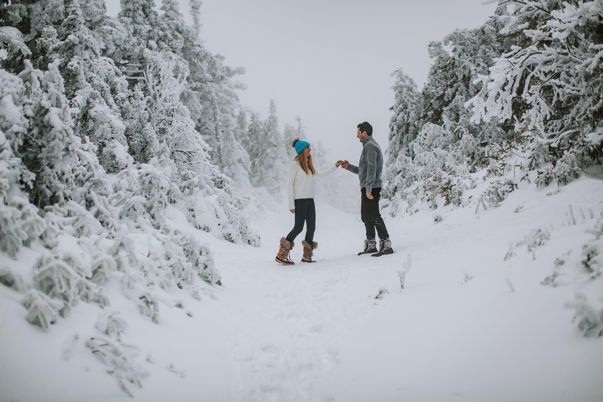 Vermont winter engagement