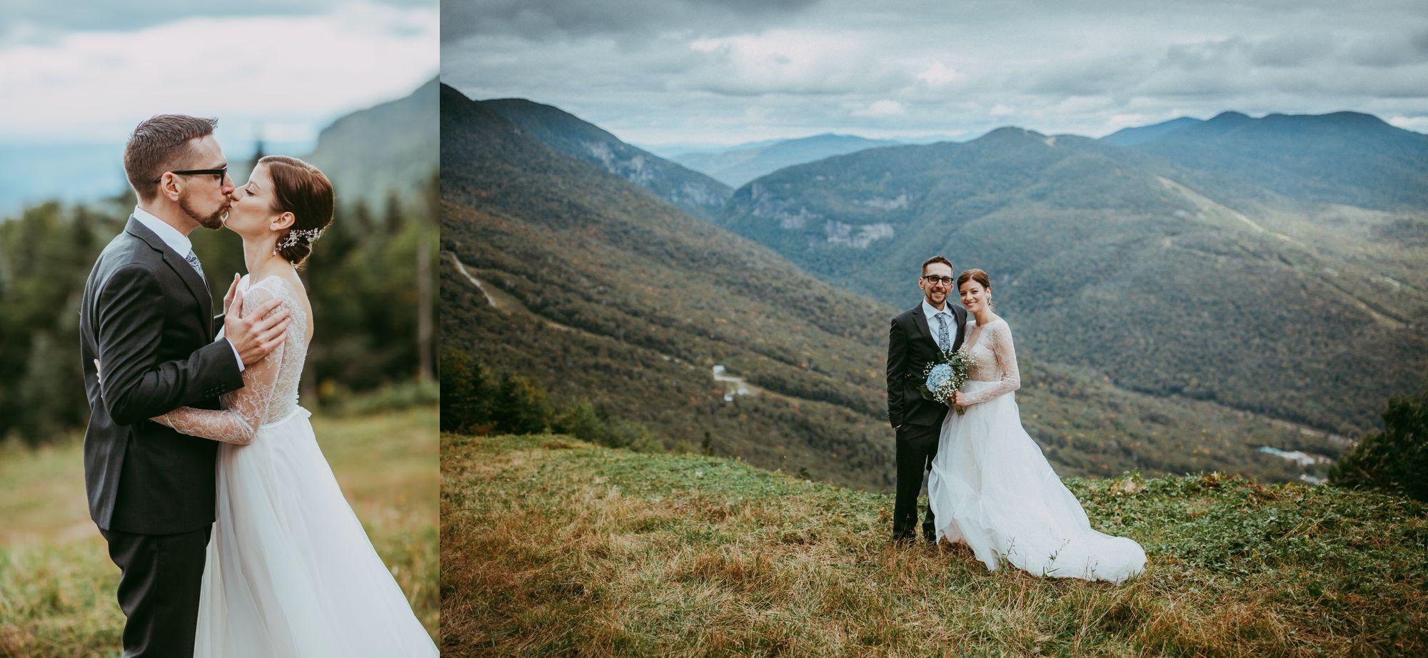 Mt Mansfield Fall Wedding