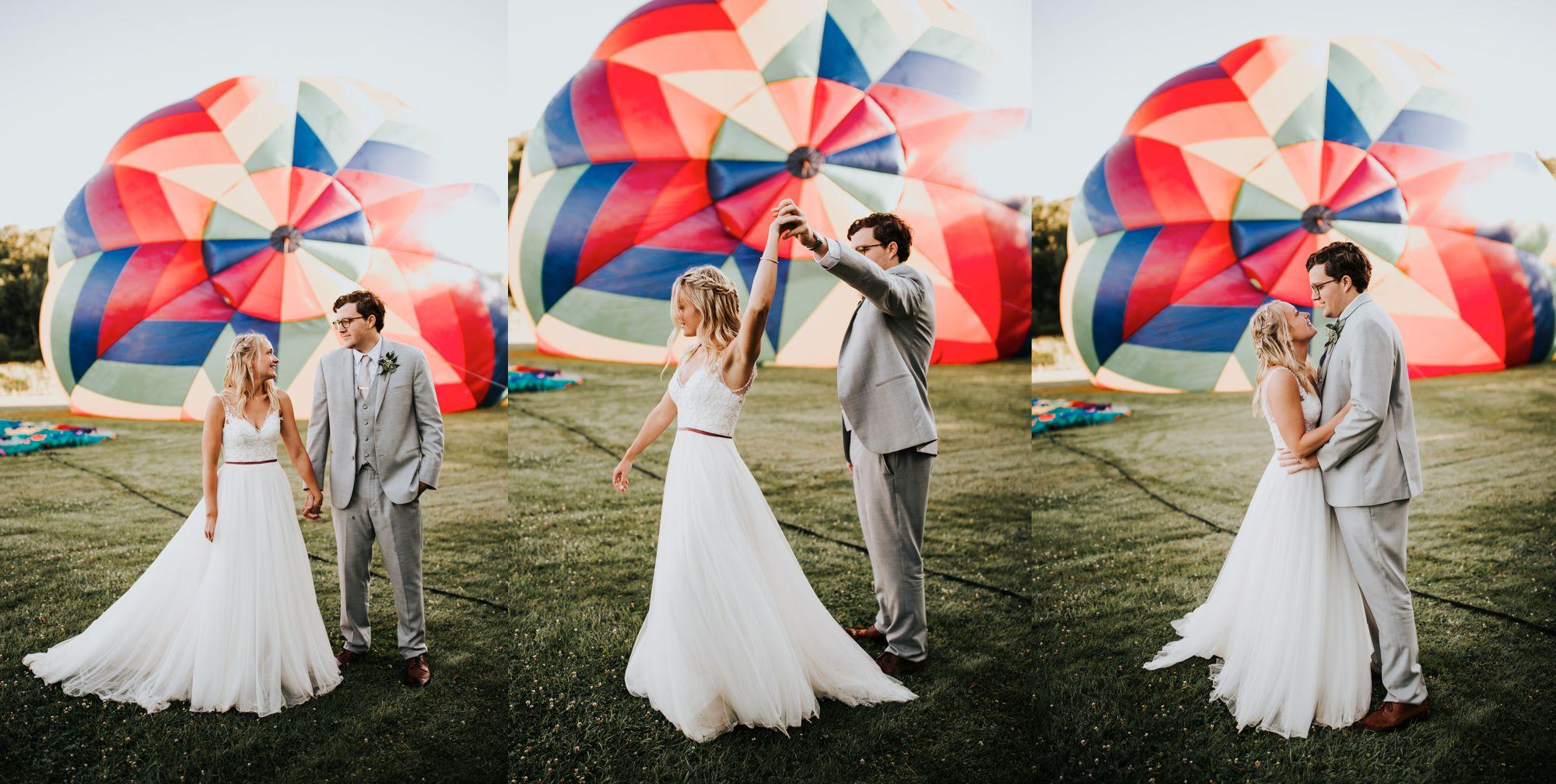 Stowe Balloon Festival Wedding Couple