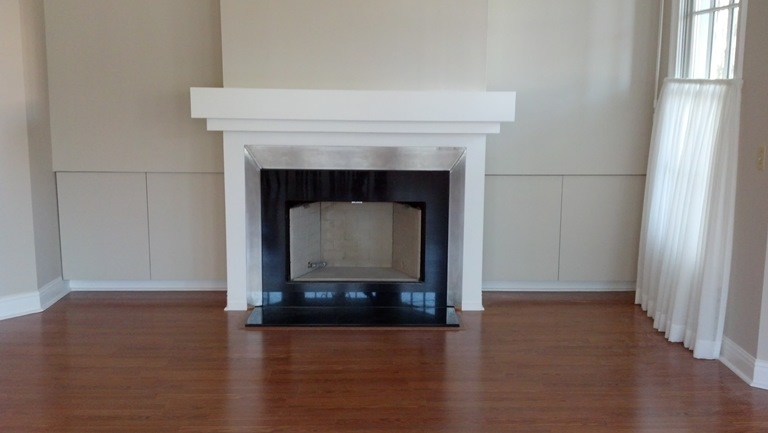 Jw Studio Stainless Steel Fireplace Surround With