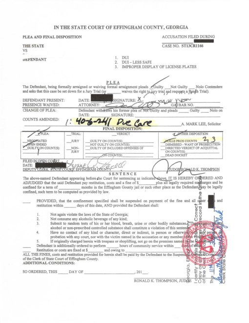 Effingham DUI blood test down to Driver to use due care by Jason Cerbone - Savannah DUI lawyer