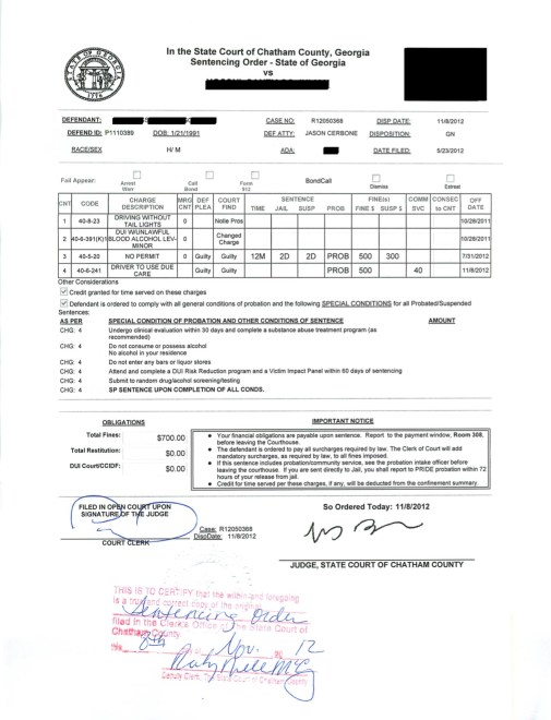 DUI breath test gone for student - Jason Cerbone DUI lawyer Savannah, Georgia