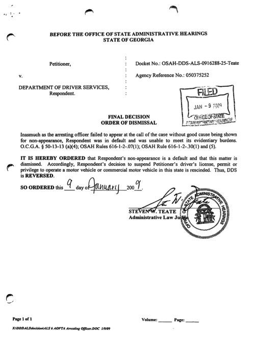 Driver's license suspension dismissed - Jason Cerbone DUI Defense Lawyer