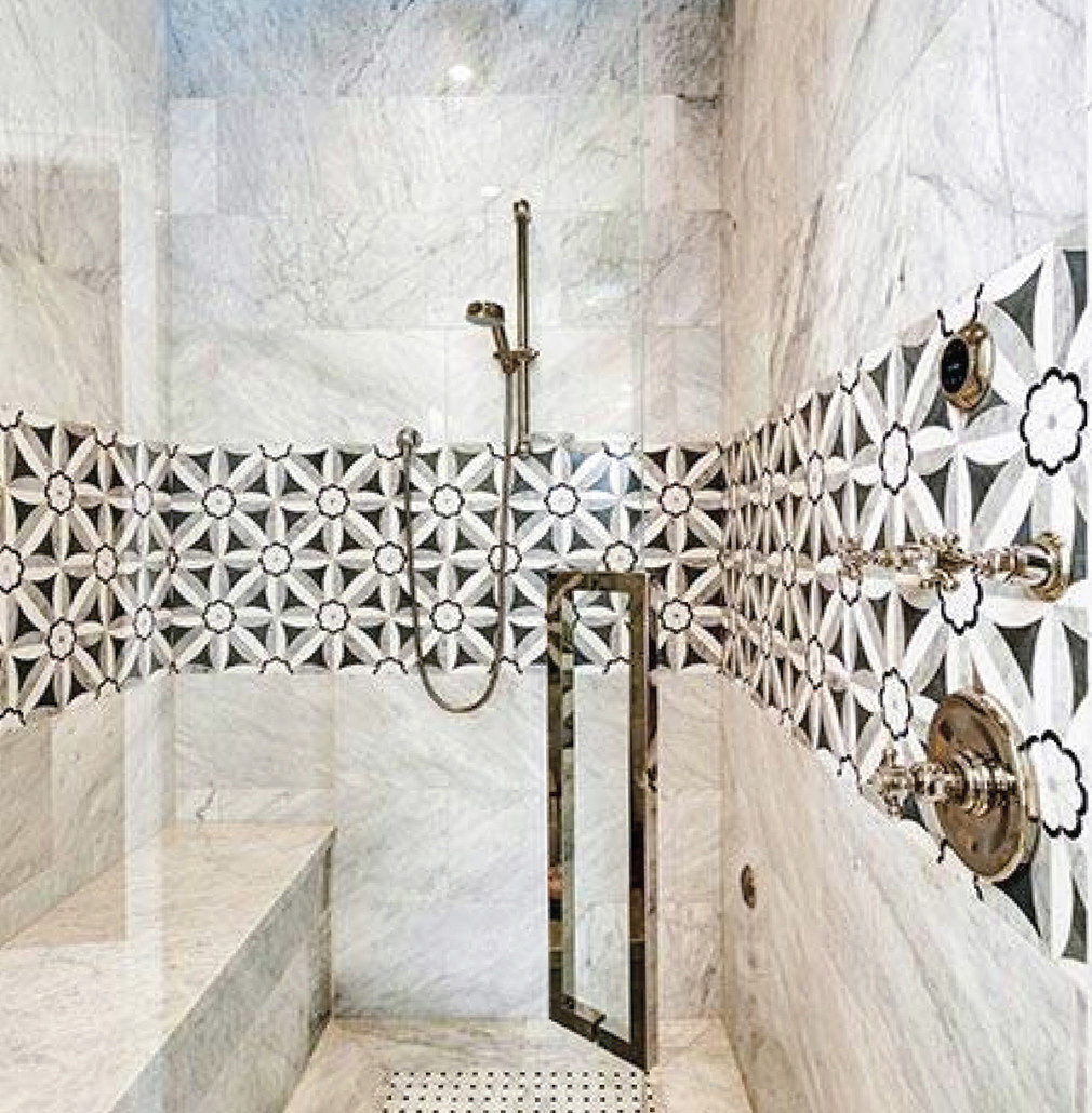 Creating A Modern Bathroom Design With Mosaic Tiles Savannah Surfaces