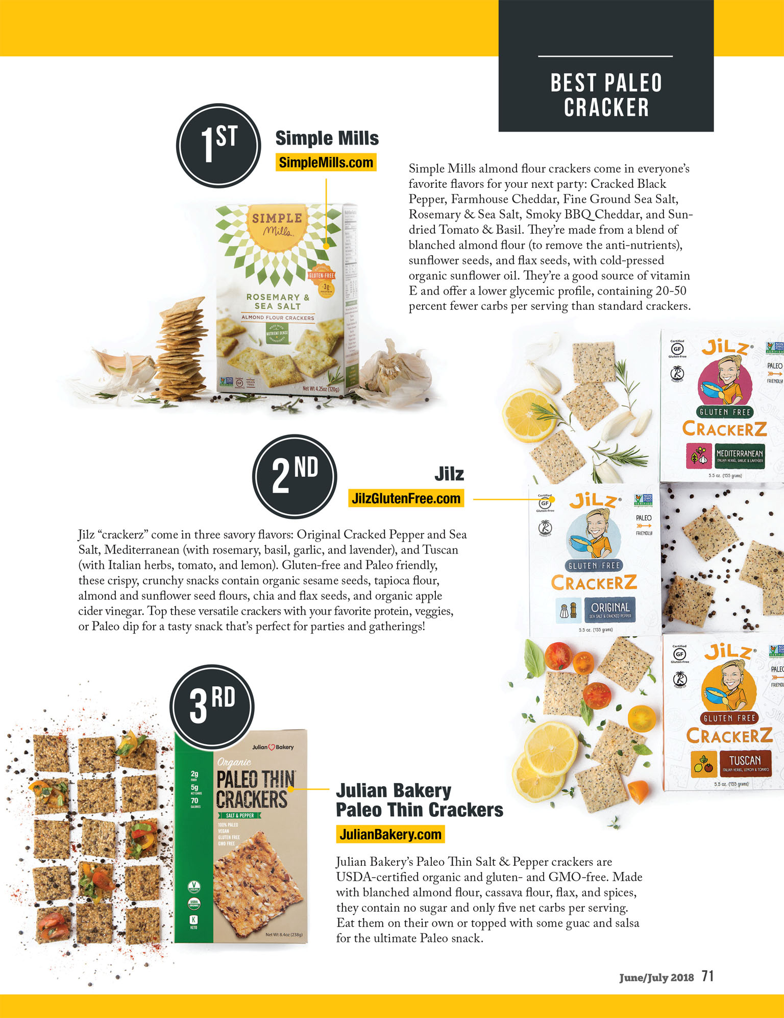 Best Crackers | Paleo Magazine