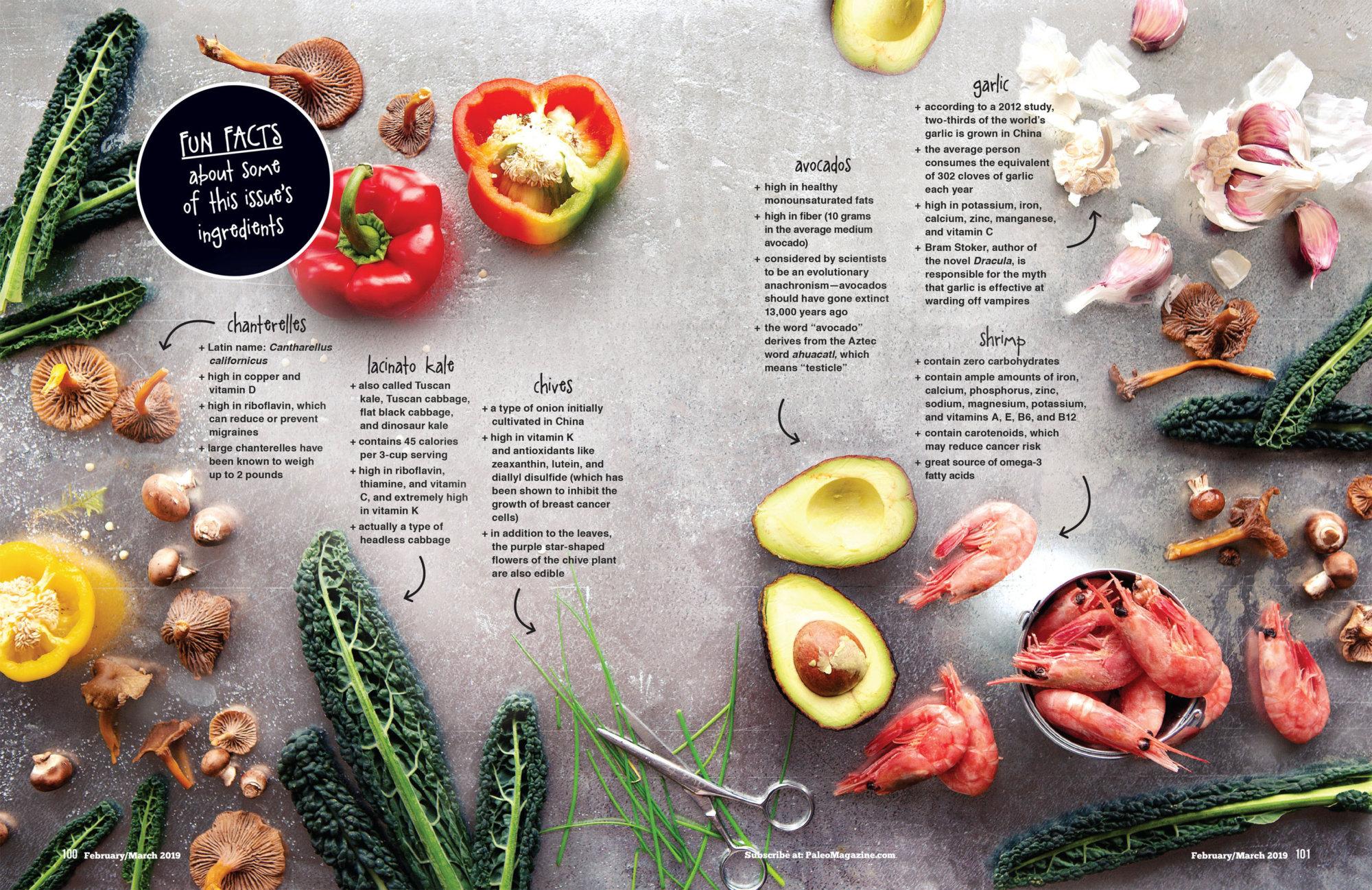 Paleo Magazine Seasonal Ingredients Spread
