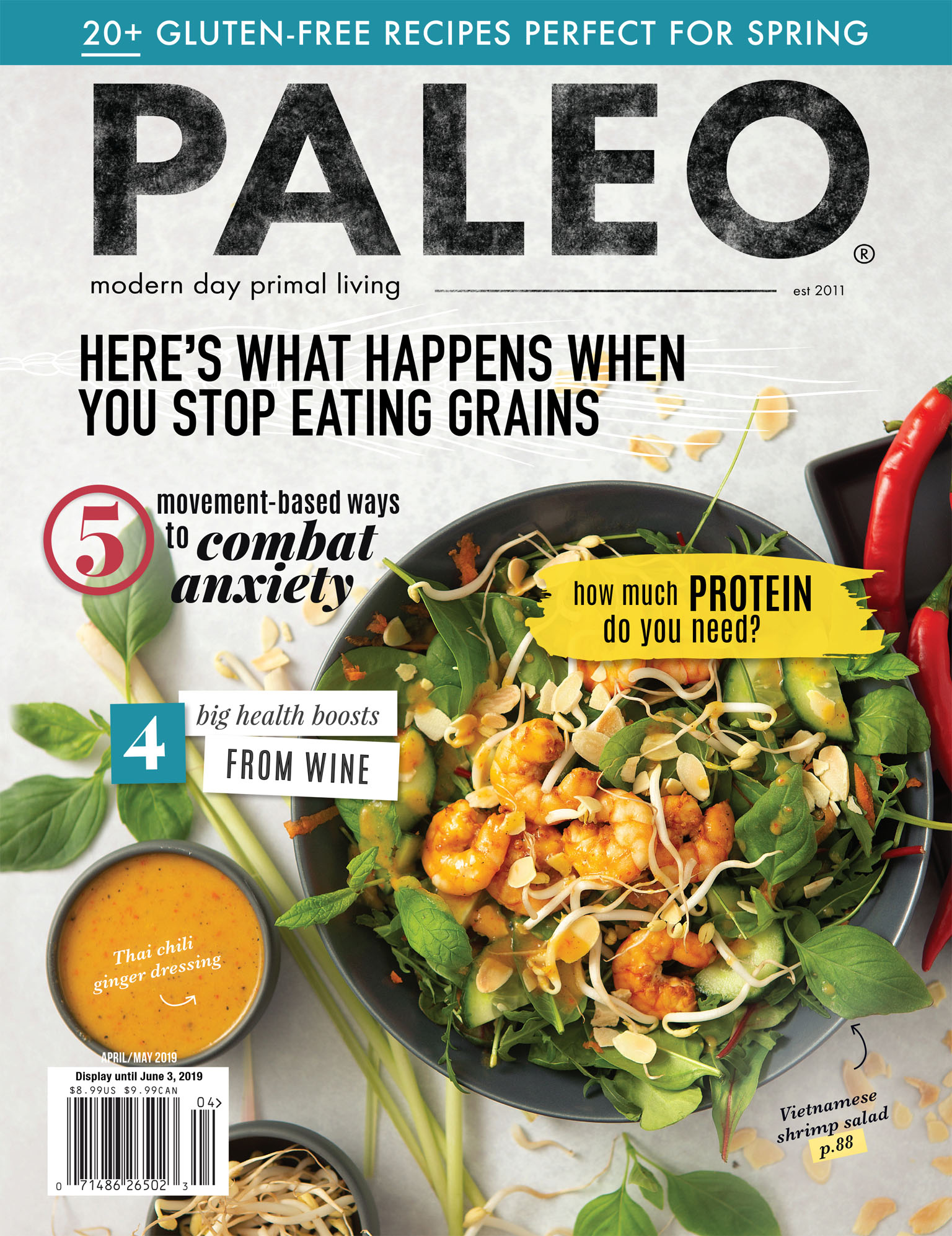 Paleo Magazine Cover Photography | April / May 2019