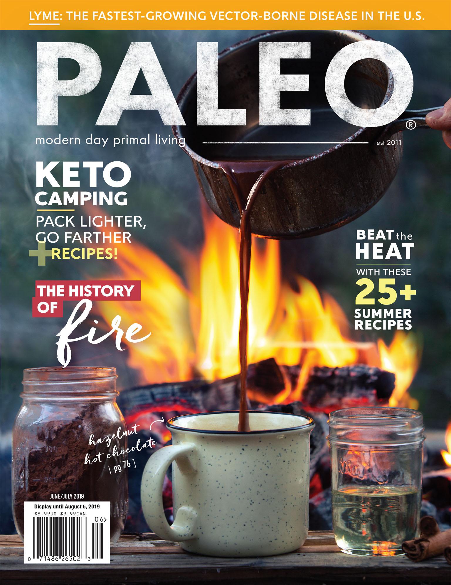 Cover Photo for Paleo Magazine, June 2019 - Keto Hot Chocolate