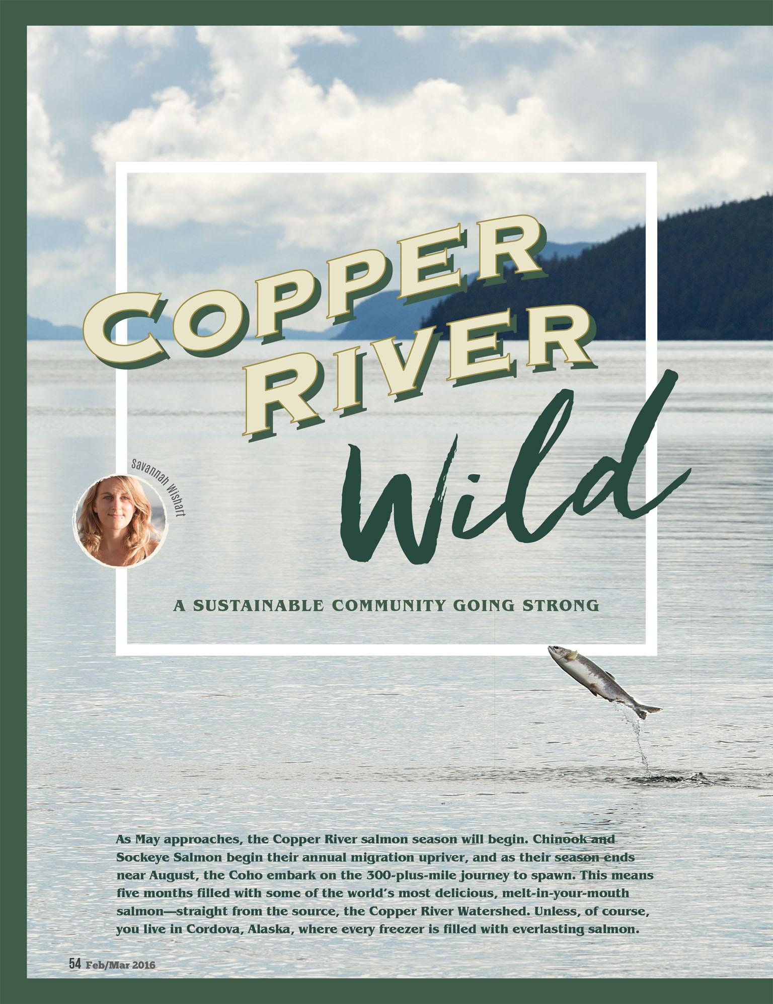 Copper River Wild, Cordova Alaska for Paleo Magazine