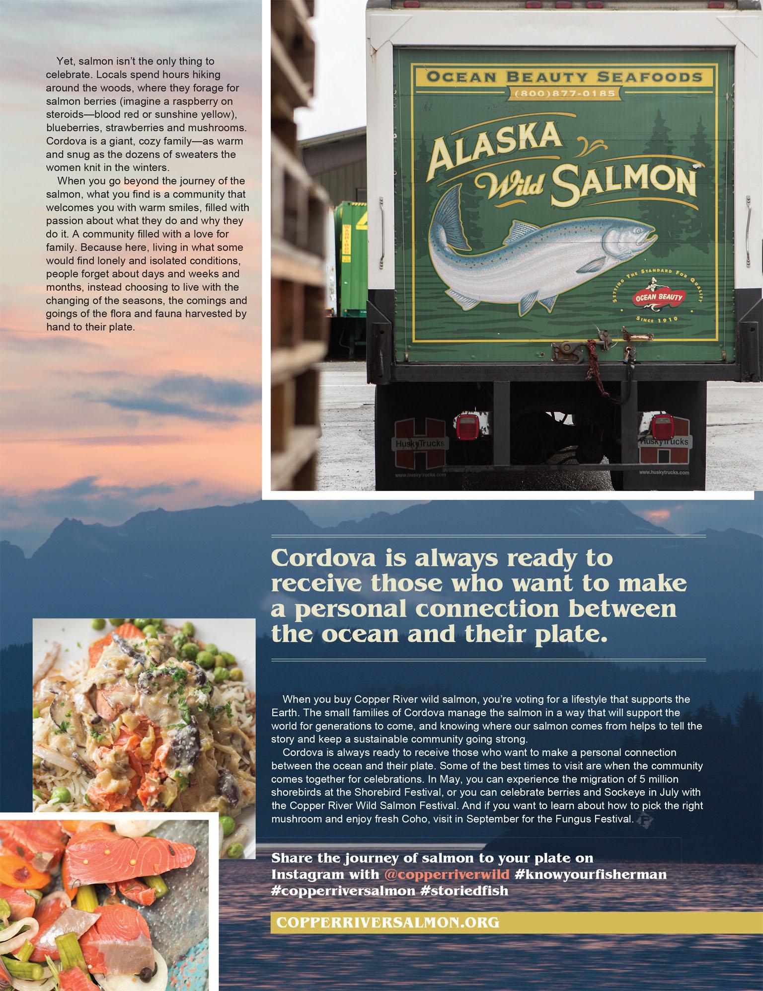 Article - Copper River Wild, Cordova Alaska for Paleo Magazine