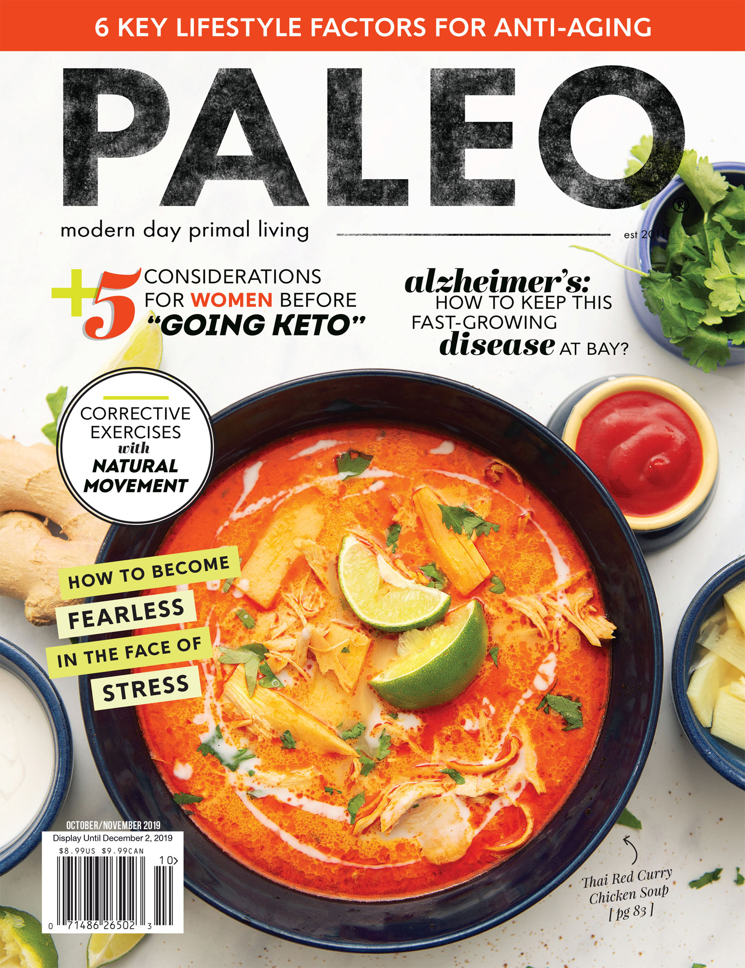 Cover photo for Paleo Magazine - Thai Red Curry Chicken Soup