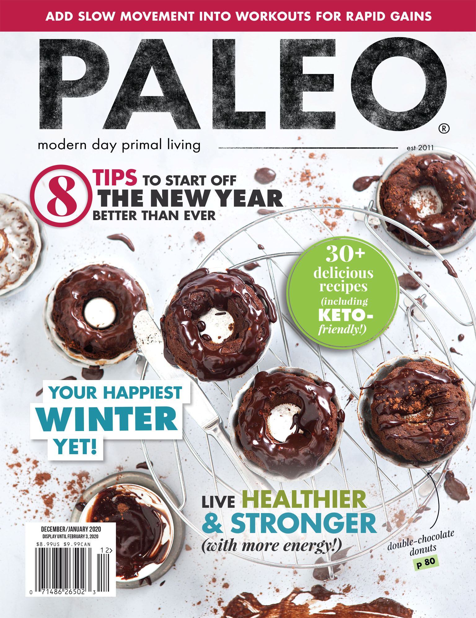 Paleo Magazine Cover Photo by Savannah Wishart - Chocolate Donuts