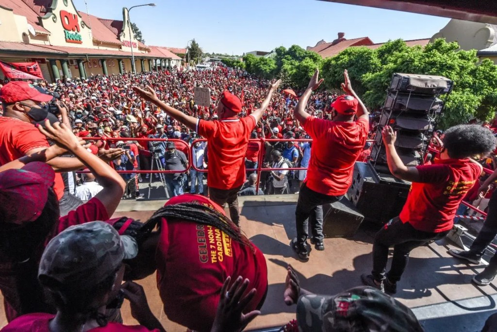 #Senekal LIVE Updates EFF members arrive in Senekal