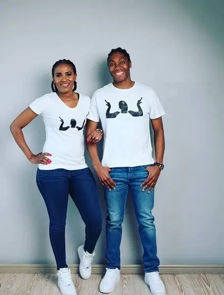 South African Gay, Lesbian Celebrity Couples Caster Semenya and Violet Raseboya