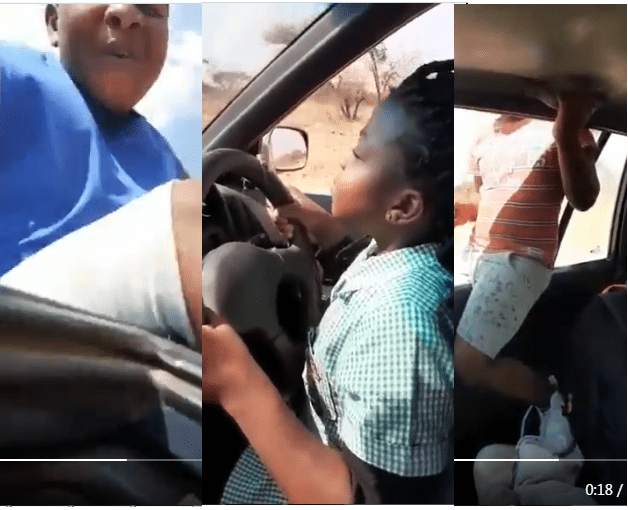 Video Dad in trouble for letting minor drive car, while others are on top