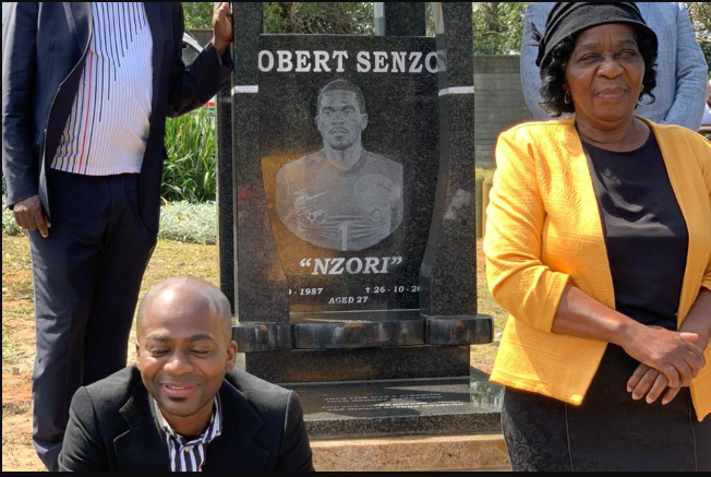 senzo meyiwa tombstone finally erected