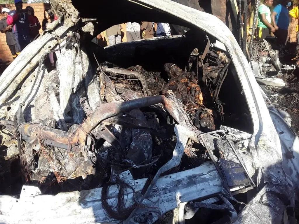 Ginimbi Genius Kadungure's Rolls Royce burns in accident crash