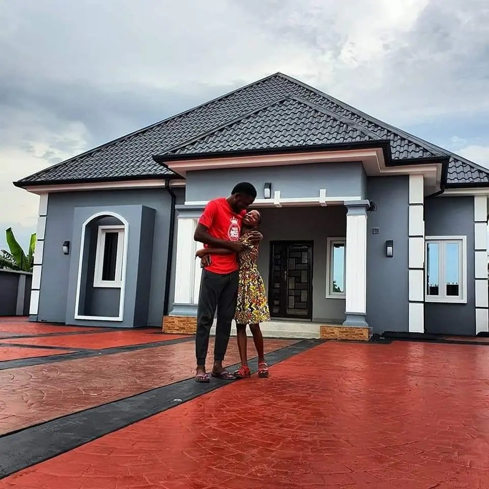 Nigerian Comedian Emmanuella surprises her mother with a beautiful house