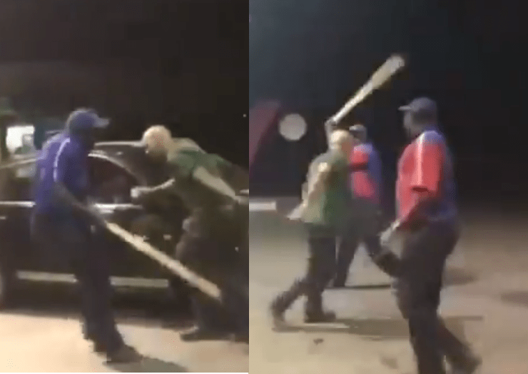 Video Petrol stations beat up white man for calling them monkeys