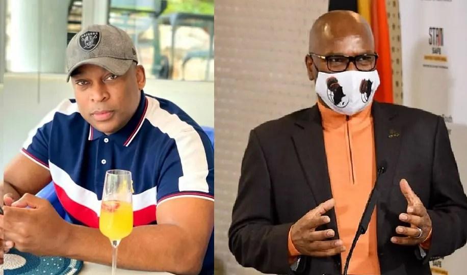 Robert Marawa exchange blows with Minister Nathi Mthethwa over Anele Ngcongca