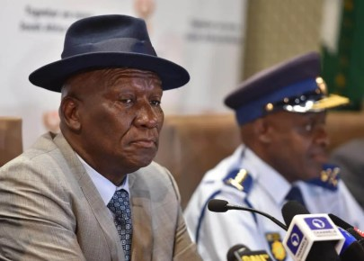 Bheki Cele: Mpumalanga Premier under investigation for showing up maskless in public