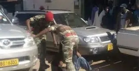 Soldiers assault a police officer for disrupting a party