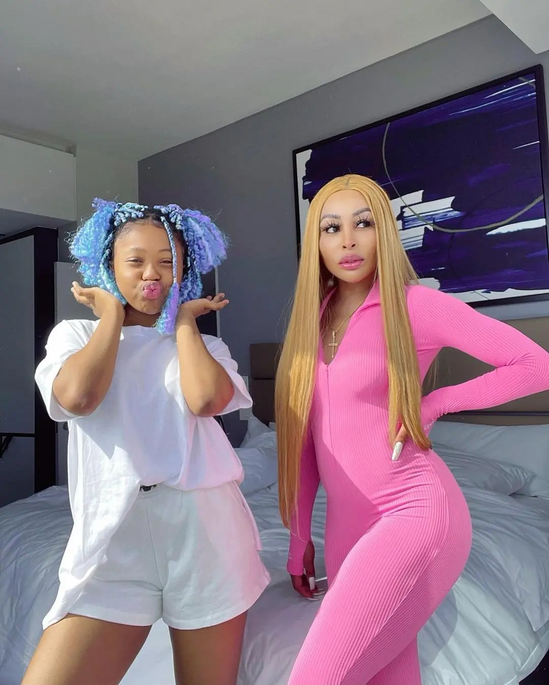 Mzansi celebrities serving cute mommy-daughter goals