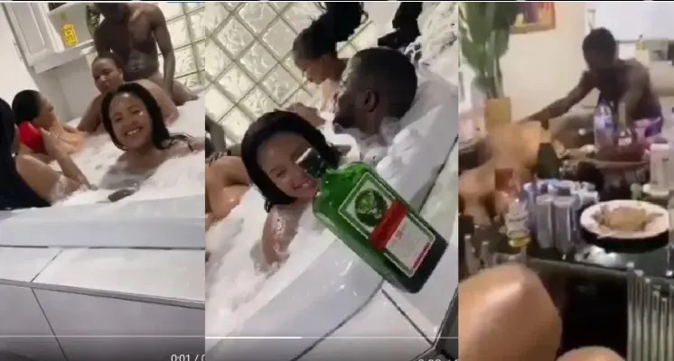 Video: Slay Queen goes missing after leaking videos of blesser bathing with snake