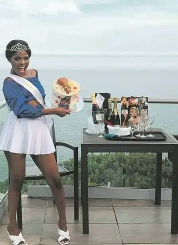 Pictures: Actress Noluvuyo Sodela, manhood birthday cake got Mzansi talking
