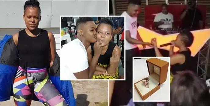Zodwa Wabantu showers Sicelo Buthelezi (Teddy) with love and affection