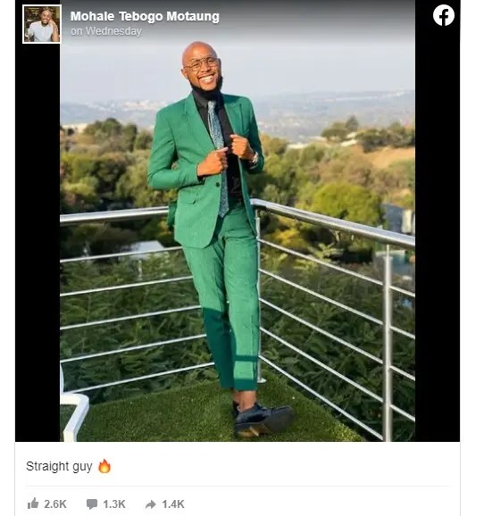 Pictures: Mzansi react as Mohale comes out as straight