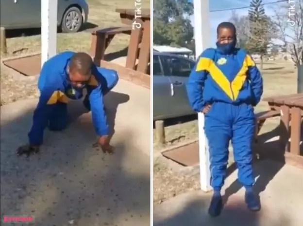 Viral video: Drunk Policewoman struggles to stand up whilst on duty