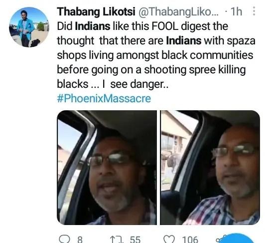 Fears of a civil war in Mzansi after the Phoenix Massacre