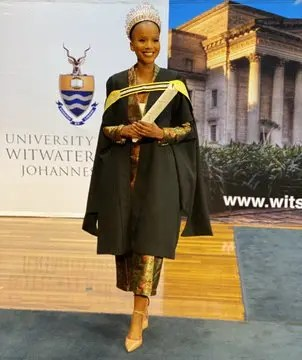 Pictures: Beauty with brains, Miss South Africa 2020 Shudufhadzo graduates with flying colors