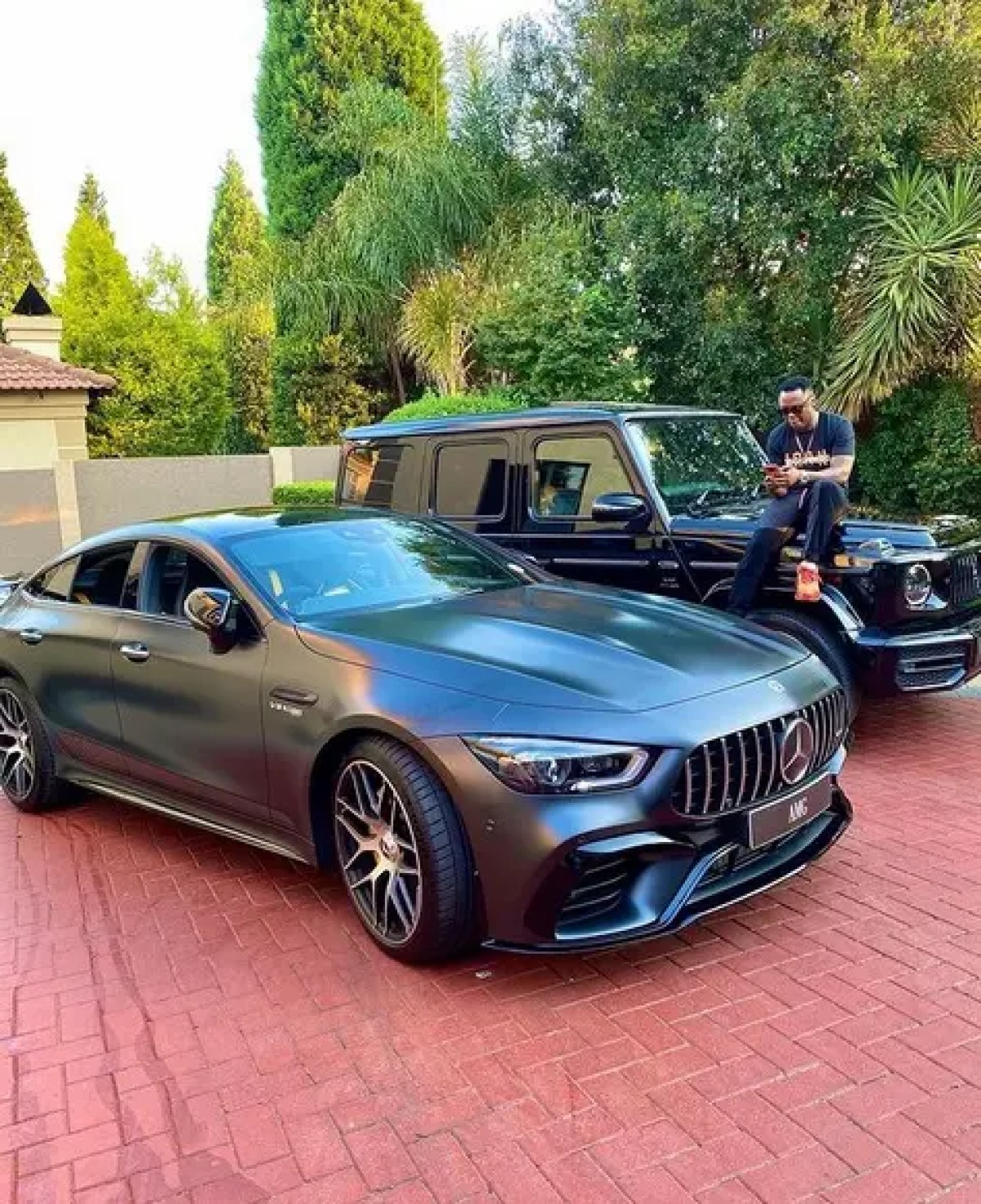 Dj Tira Mercedes AMG coupe and Mercedes AMG G class G63