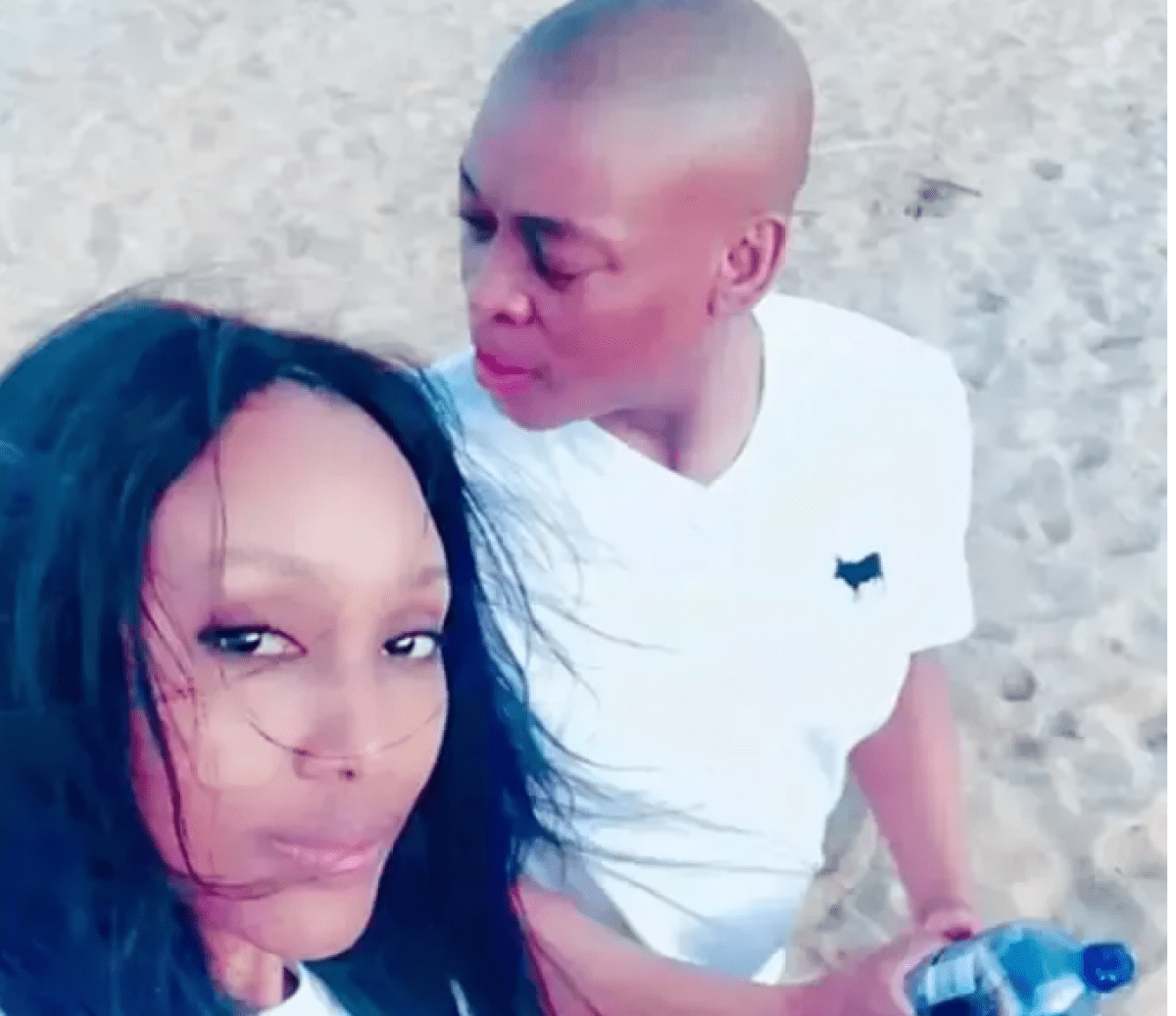 Zoe and Rapulana in happier times