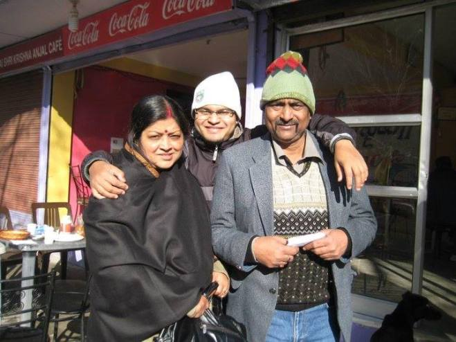 Abhishek with His Parents