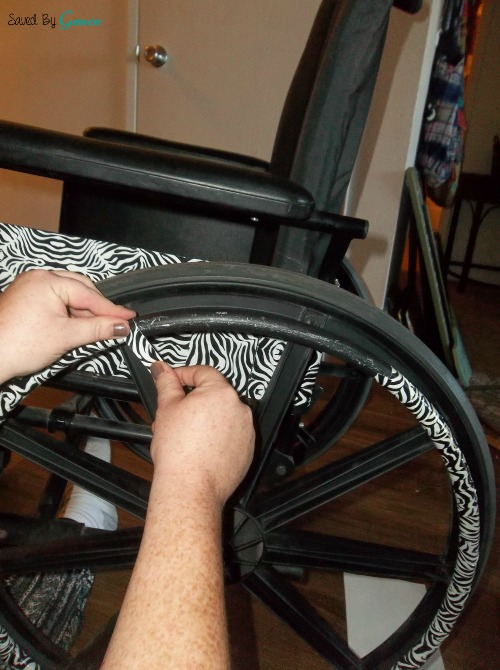 wheelchair grips big joe bean bag chair lots how to decorate a with duct tape saved by grace