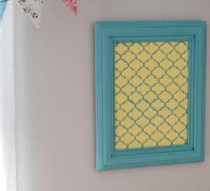 MarthaFeature 300x272 Quatrefoil Stenciled Corkboard New Martha Stewart Decorative Art Paints!
